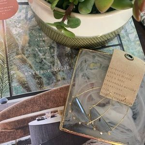 ✨NWT✨Anthropologie Hoops Yellow Gold and Grey